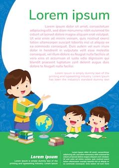 Onderwijs achtergrond poster