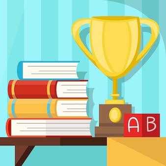 Onderwijs award, afstudeer symbool