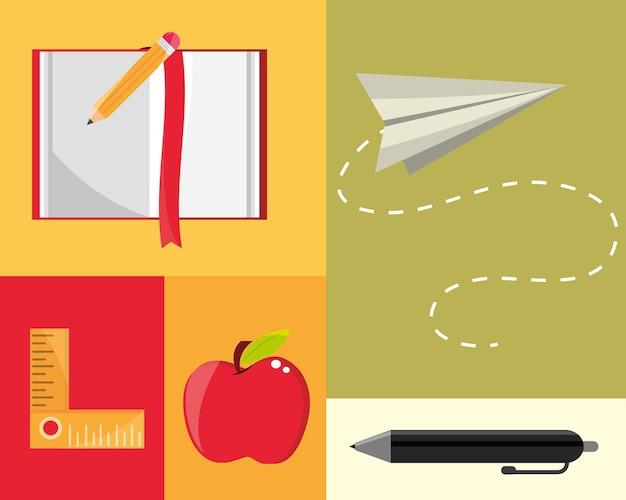 Onderwijs benodigdheden set