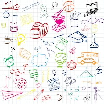 Onderwijs concept achtergrond