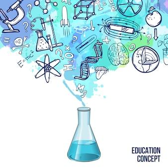 Onderwijs concept schets