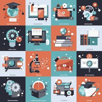 Onderwijs concept set illustratie