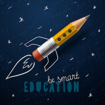 Onderwijs concept terug naar school vector afbeelding
