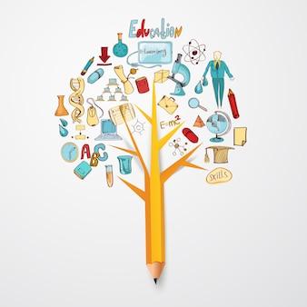 Onderwijs doodle concept
