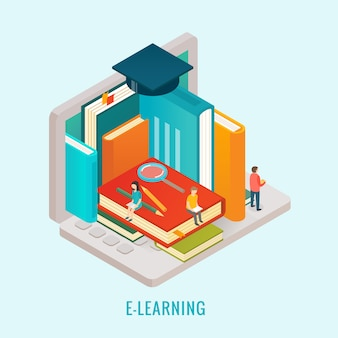 Onderwijs e-learning concept