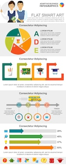 Onderwijs en beheer infographic grafieken instellen