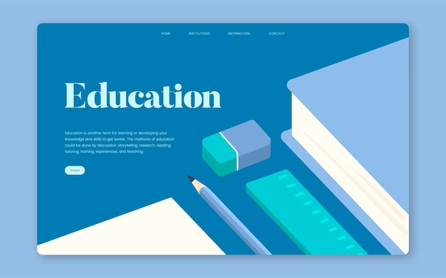 Onderwijs en het leren van informatieve website grafisch