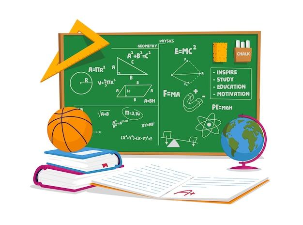 Onderwijs en schoollesconcept