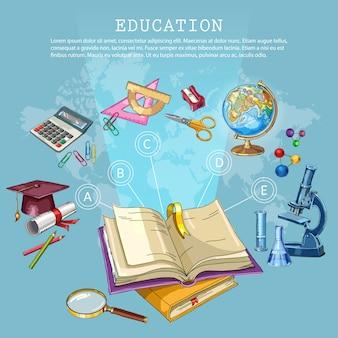 Onderwijs en wetenschap. terug naar school-concept