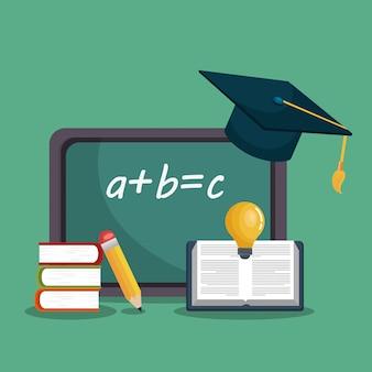Onderwijs gemakkelijk leren set pictogrammen