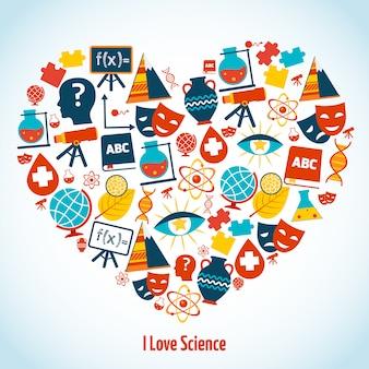 Onderwijs hart concept