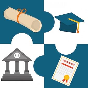 Onderwijs iconen ontwerp