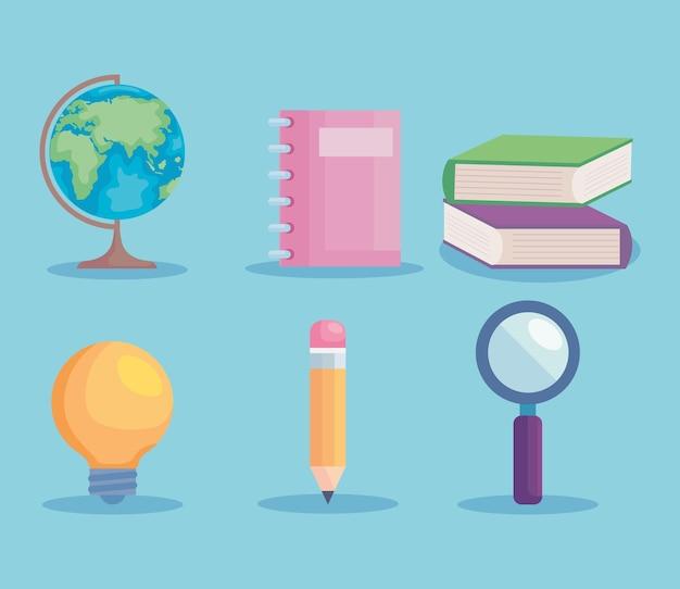 Onderwijs icoon collectie