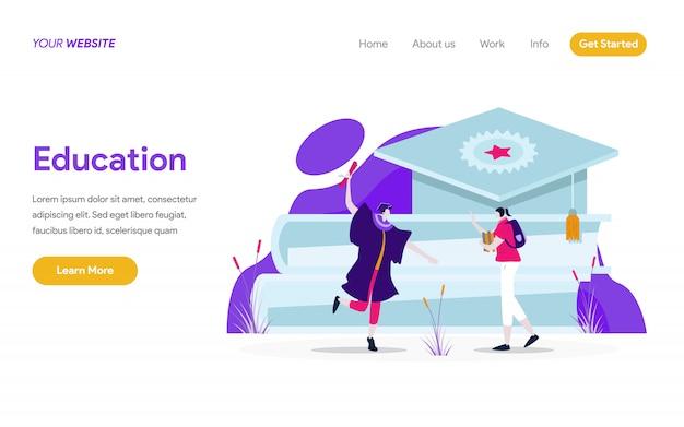 Onderwijs illustratie concept