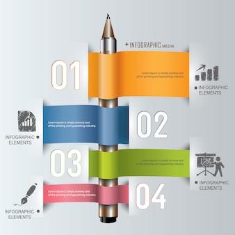 Onderwijs info grafische sjabloon