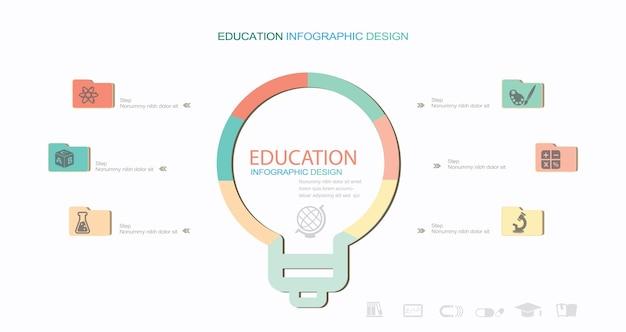 Onderwijs infographic elementen stock illustratie infographic onderwijs cirkeldiagram
