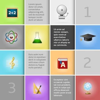 Onderwijs infographic elementen