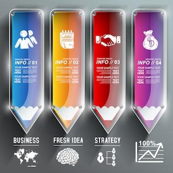 Onderwijs infographic sjabloon