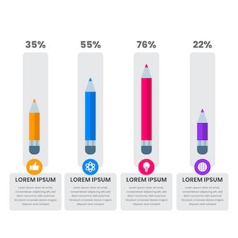 Onderwijs infographics in plat ontwerp