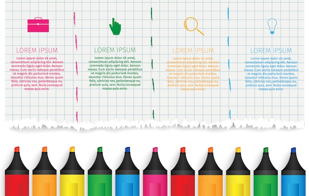 Onderwijs infographics.
