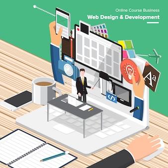 Onderwijs isometrisch ontwerp