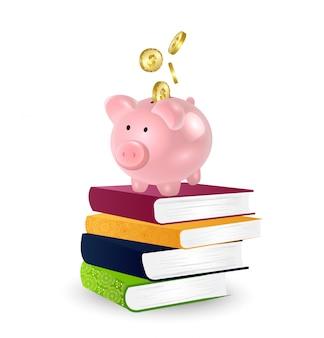 Onderwijs kosten concept.