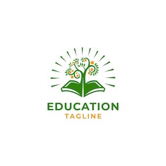 Onderwijs leaf vector icon illustratie ontwerpsjabloon