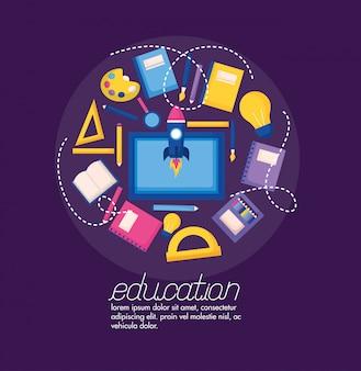 Onderwijs levert in vlakke stijl