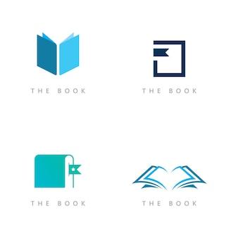 Onderwijs logo pictogrammalplaatje. open boek illustratie