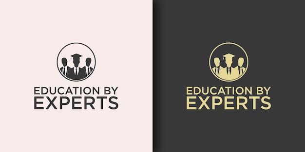 Onderwijs logo sjabloon met modern concept