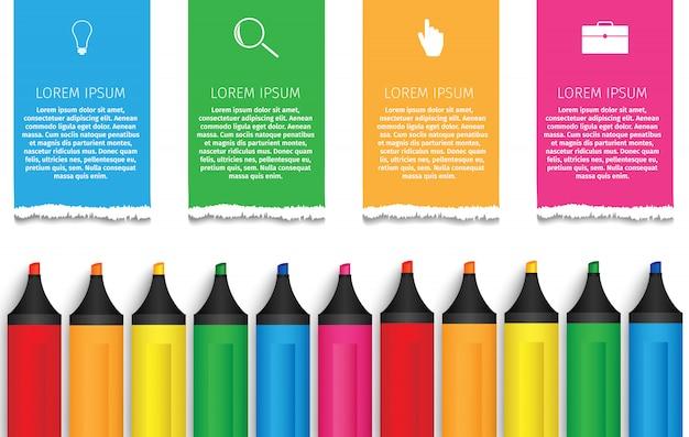 Onderwijs markeringen infographics