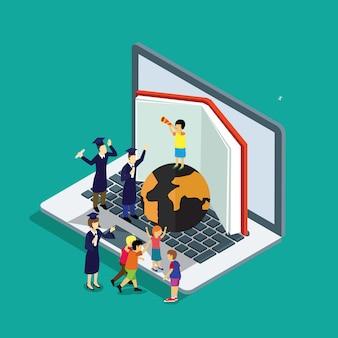 Onderwijs met online studeren