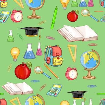 Onderwijs naadloos patroon