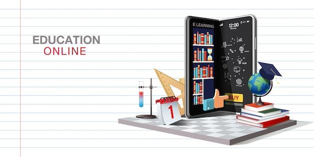 Onderwijs online op website en mobiele applicatie
