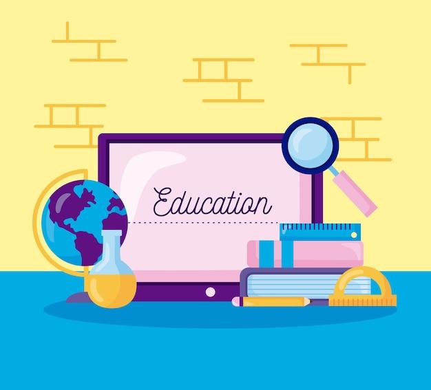 Onderwijs online pictogrammen