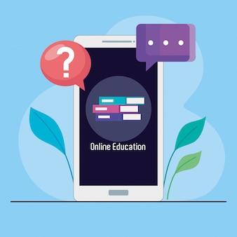 Onderwijs online technologie door smartphone