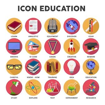 Onderwijs pictogrammen