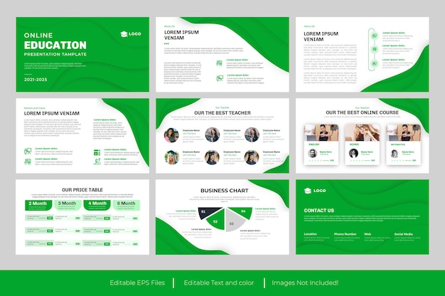 Onderwijs powerpoint-dia presentatiesjabloon