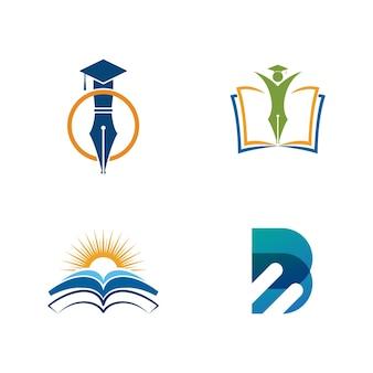 Onderwijs sjabloon vector pictogram illustratie ontwerp