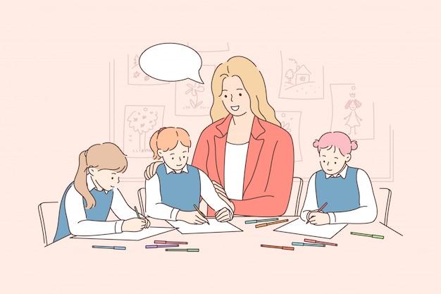 Onderwijs studie leren les communicatieconcept