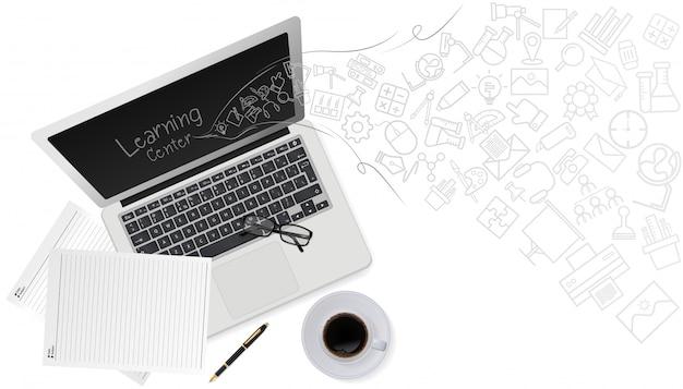 Onderwijs technologie concept