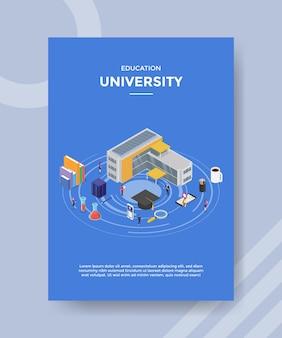 Onderwijs universiteit flyer-sjabloon