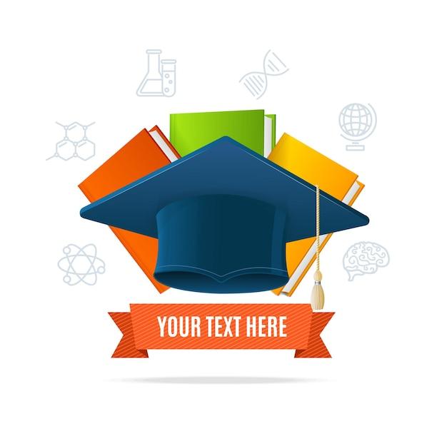 Onderwijsconcept met plaats voor uw tekst.