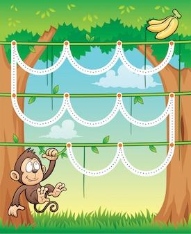Onderwijsspel monkey - line dot