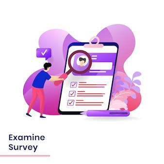 Onderzoek de illustratie van de enquête
