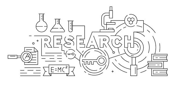 Onderzoek of wetenschap illustratie