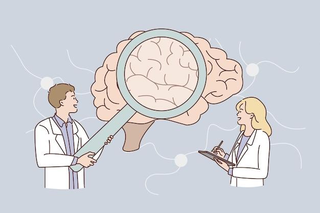Onderzoek van het concept van het menselijk brein