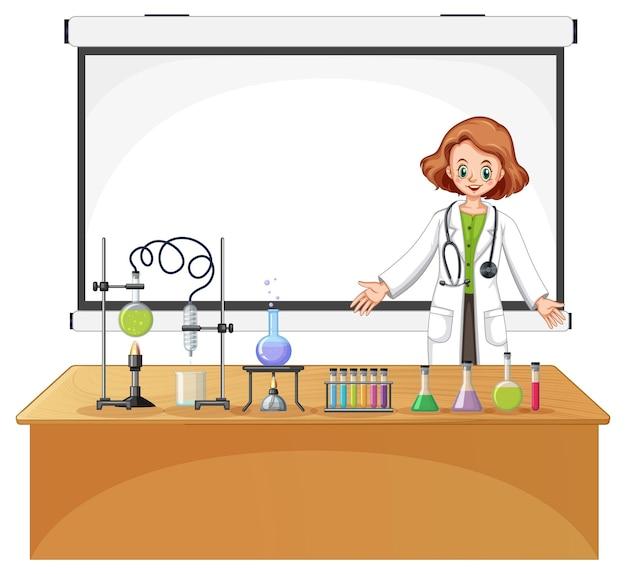 Onderzoeker experiment in het laboratorium