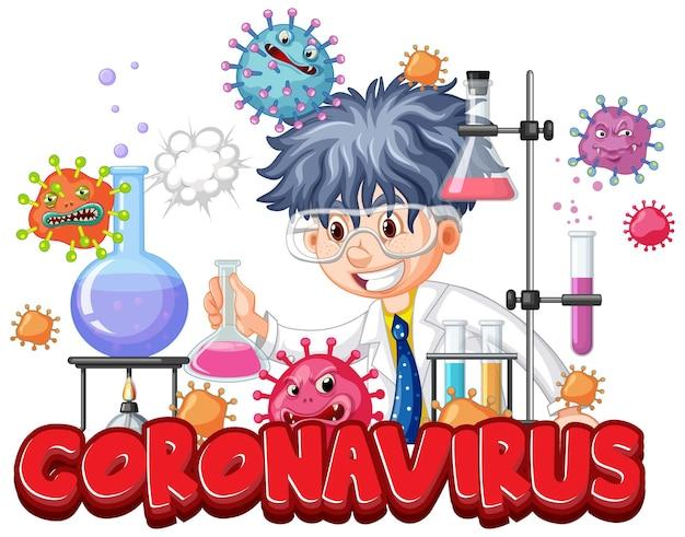Onderzoeker experiment voor covid-19 vaccin
