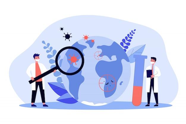 . onderzoeksconcept epidemiologie en pandemie